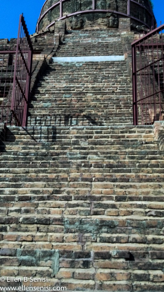 steep stairs Bagan